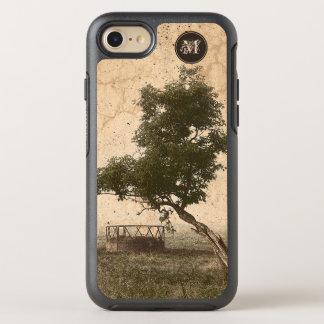Capa Para iPhone 8/7 OtterBox Symmetry Árvore textured bege rústica na fotografia da