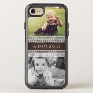 Capa Para iPhone 8/7 OtterBox Symmetry As fotos feitas sob encomenda & nomeiam | madeira