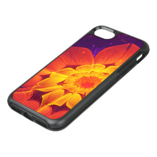 Capa Para iPhone 8/7 OtterBox Symmetry Azuis marinhos, vermelho, e margarida do Gerbera