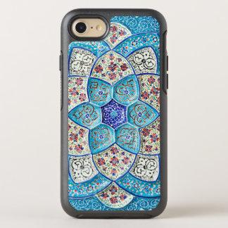 Capa Para iPhone 8/7 OtterBox Symmetry Azul de turquesa marroquino tradicional, branco,