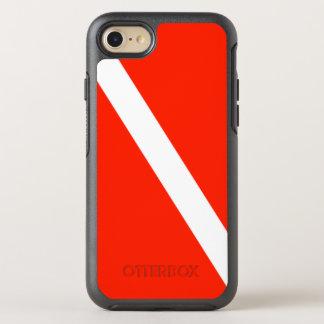 Capa Para iPhone 8/7 OtterBox Symmetry Bandeira clássica do mergulho do mergulhador