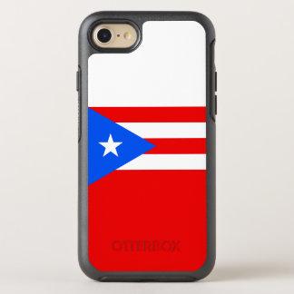 Capa Para iPhone 8/7 OtterBox Symmetry Bandeira de capas de iphone de Puerto Rico
