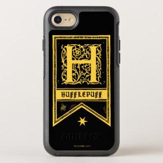 Capa Para iPhone 8/7 OtterBox Symmetry Bandeira do monograma de Harry Potter   Hufflepuff