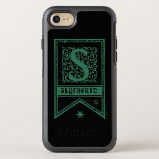 Capa Para iPhone 8/7 OtterBox Symmetry Bandeira do monograma de Harry Potter   Slytherin