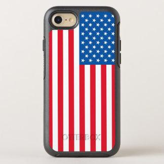 Capa Para iPhone 8/7 OtterBox Symmetry Bandeira dos Estados Unidos da bandeira dos EUA