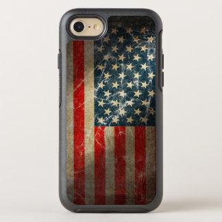 Capa Para iPhone 8/7 OtterBox Symmetry Bandeira patriótica dos E.U. do Grunge