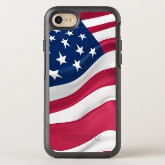 Capa Para iPhone 8/7 OtterBox Symmetry Bandeira patriótica dos Estados Unidos