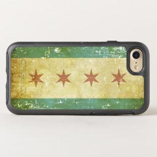 Capa Para iPhone 8/7 OtterBox Symmetry Bandeira patriótica gasta de Chicago