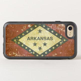 Capa Para iPhone 8/7 OtterBox Symmetry Bandeira patriótica gasta do estado de Arkansas