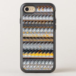 Capa Para iPhone 8/7 OtterBox Symmetry Bares de teste padrão de aço oxidados