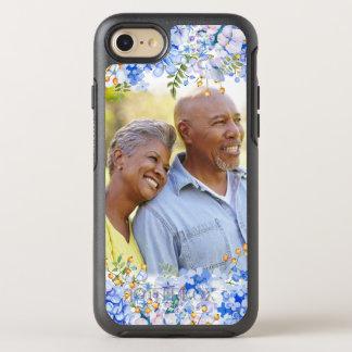 Capa Para iPhone 8/7 OtterBox Symmetry Beira floral da foto do Hydrangea azul