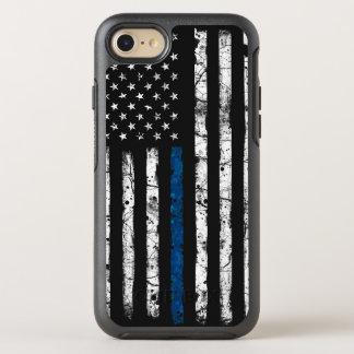 Capa Para iPhone 8/7 OtterBox Symmetry Blue Line fino encaixota