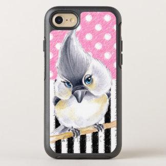 Capa Para iPhone 8/7 OtterBox Symmetry Bolinhas cor-de-rosa do Titmouse