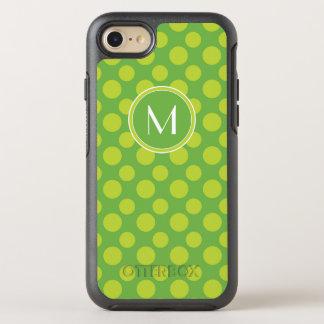 Capa Para iPhone 8/7 OtterBox Symmetry Bolinhas do limão do monograma   grandes