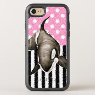 Capa Para iPhone 8/7 OtterBox Symmetry Bolinhas do rosa da baleia da orca