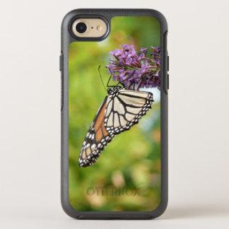 Capa Para iPhone 8/7 OtterBox Symmetry Borboleta de monarca na borboleta Bush roxa