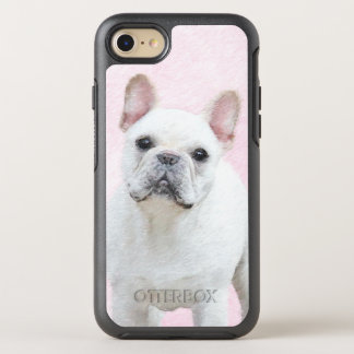 Capa Para iPhone 8/7 OtterBox Symmetry Buldogue francês (creme/branco)