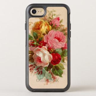 Capa Para iPhone 8/7 OtterBox Symmetry Buquê cor-de-rosa do vintage floral