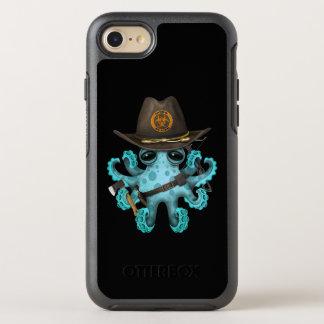 Capa Para iPhone 8/7 OtterBox Symmetry Caçador do zombi do polvo do bebê azul