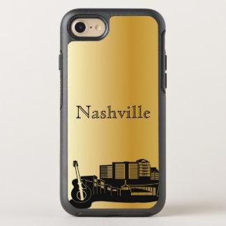 Capa Para iPhone 8/7 OtterBox Symmetry Caixa da silhueta da skyline de Nashville do ouro