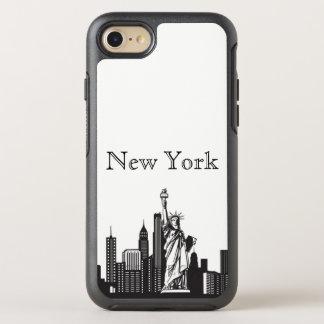 Capa Para iPhone 8/7 OtterBox Symmetry Caixa da silhueta da skyline de New York