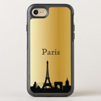 Capa Para iPhone 8/7 OtterBox Symmetry Caixa da silhueta da skyline de Paris do ouro