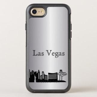 Capa Para iPhone 8/7 OtterBox Symmetry Caixa de prata da silhueta da skyline de Las Vegas