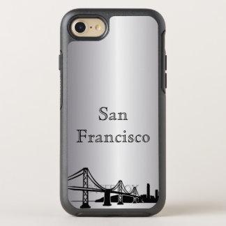 Capa Para iPhone 8/7 OtterBox Symmetry Caixa de prata da silhueta da skyline de San