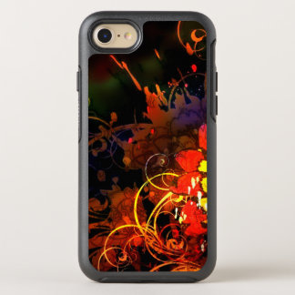Capa Para iPhone 8/7 OtterBox Symmetry Caixa impetuosa da flor de Mez