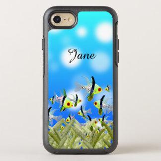 Capa Para iPhone 8/7 OtterBox Symmetry Caixa, peixes & mar do telemóvel do AQUÁRIO