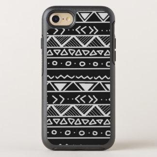 Capa Para iPhone 8/7 OtterBox Symmetry Caixa tribal preto e branco de OtterBox do iPhone