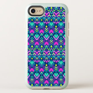 Capa Para iPhone 8/7 OtterBox Symmetry Caixa tribal roxa cor-de-rosa bonito do iPhone X