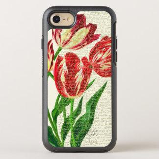 Capa Para iPhone 8/7 OtterBox Symmetry Caligrafia vermelha das tulipas