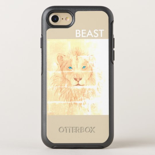 Capa Para iPhone 8/7 OtterBox Symmetry Capa BEAST/Leão branco para iPhone