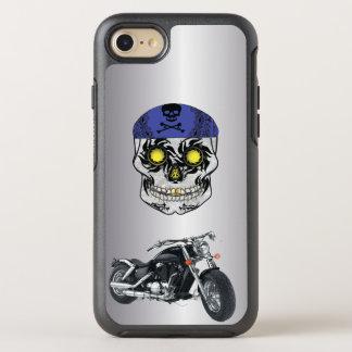 Capa Para iPhone 8/7 OtterBox Symmetry Capa de telefone de prata do crânio dos doces do