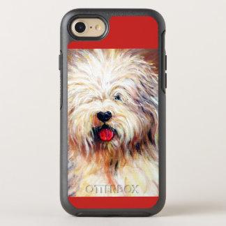 Capa Para iPhone 8/7 OtterBox Symmetry Capa de telefone inglesa velha do cão de carneiros