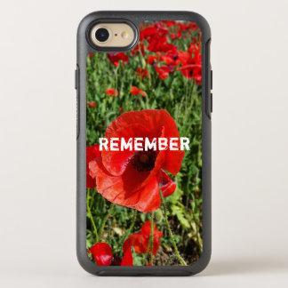Capa Para iPhone 8/7 OtterBox Symmetry Capa de telefone vermelha das papoilas
