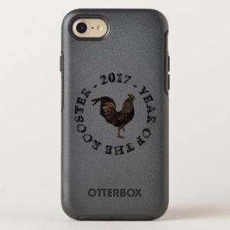 Capa Para iPhone 8/7 OtterBox Symmetry Caso chinês do ano novo O do galo rústico do
