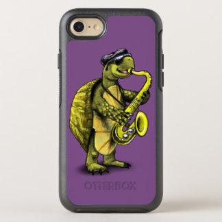 Capa Para iPhone 8/7 OtterBox Symmetry Caso de Otterbox da tartaruga do saxofone