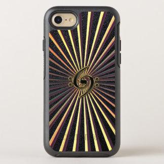 Capa Para iPhone 8/7 OtterBox Symmetry Caso do iPhone 7 da música do metal da espiral do