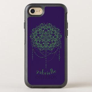 Capa Para iPhone 8/7 OtterBox Symmetry Caso Jeweled elegante do iPhone 7 da mandala do