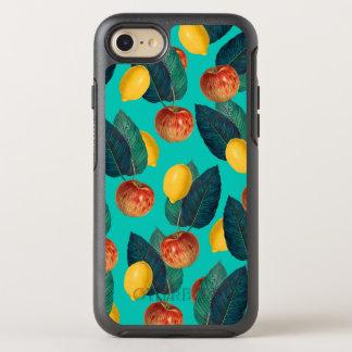 Capa Para iPhone 8/7 OtterBox Symmetry cerceta das maçãs e dos limões