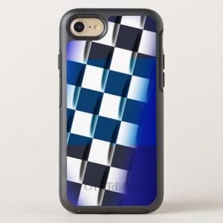 Capa Para iPhone 8/7 OtterBox Symmetry Checkered à moda no fundo azul