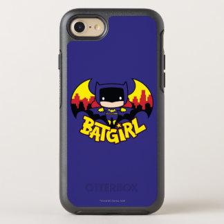 Capa Para iPhone 8/7 OtterBox Symmetry Chibi Batgirl com skyline & logotipo de Gotham