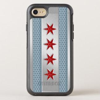 Capa Para iPhone 8/7 OtterBox Symmetry Cidade do olhar escovado bandeira do metal de