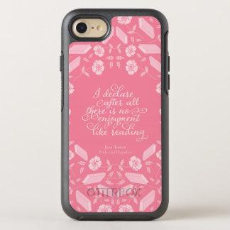 Capa Para iPhone 8/7 OtterBox Symmetry Citações Bookish florais de Jane Austen do orgulho