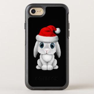 Capa Para iPhone 8/7 OtterBox Symmetry Coelho branco do bebê que veste um chapéu do papai