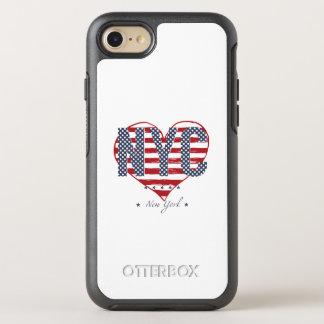 Capa Para iPhone 8/7 OtterBox Symmetry Coração da bandeira americana de NYC