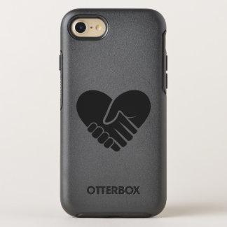 Capa Para iPhone 8/7 OtterBox Symmetry Coração preto conectado amor