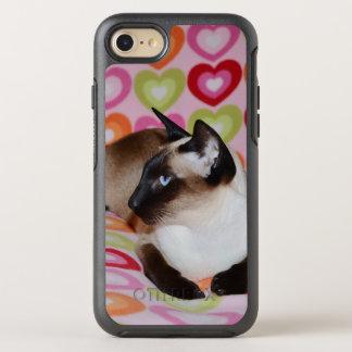 Capa Para iPhone 8/7 OtterBox Symmetry Corações sonhadores do gato Siamese